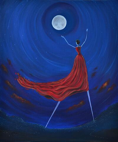 Nasser Al Attiyah, 'Reaching the Moon 2 / الوصول الى القمر 2 ', 2017