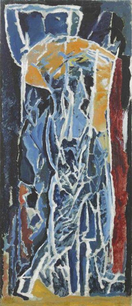 David Bomberg, 'Figure Composition (Stable Interior Series)', 1919