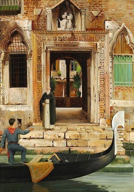 Josef Theodor Hansen, 'Abbey of San Gregorio', 1887