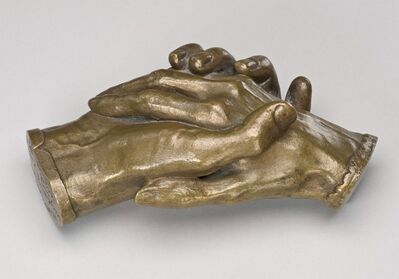 Harriet Goodhue Hosmer, 'Clasped Hands of Robert Browning and Elizabeth Barrett Browning', model 1853