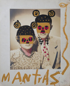 Leobardo Huerta, 'Mantras, framed and mounted vintage photograph intervened by the artist with acrylic paint and pen and ink ', 2019