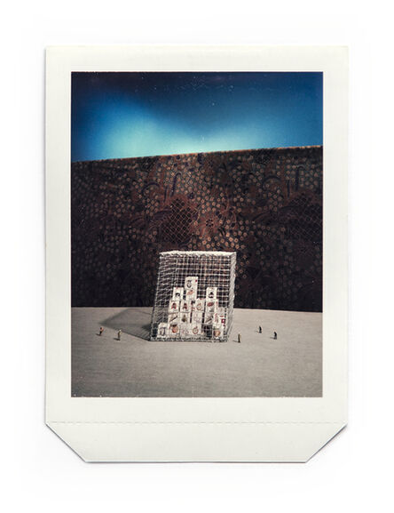 Lee Ka-sing, 'Objects in front of a piece of Indonesian batik', 1986