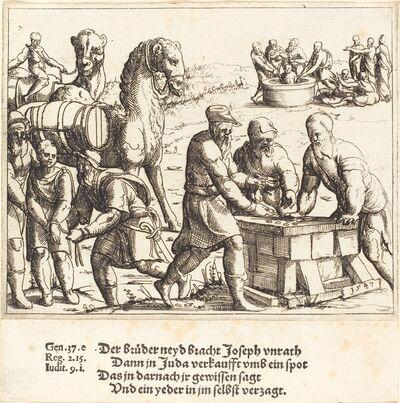 Augustin Hirschvogel, 'Joseph Sold to the Ishmaelites', 1547
