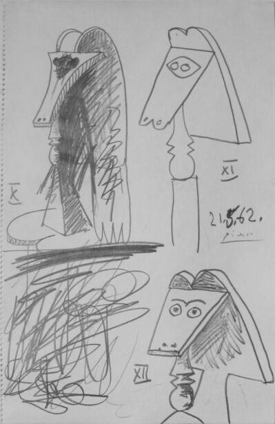Pablo Picasso, 'Trois bustes de femmes (Three Female Busts)', 1962