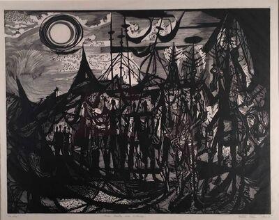 Misch Kohn, 'TROIS VISITORS AVEC ENTOURAGE (THREE VISITORS WITH ENTOURAGE).', 1952