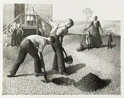 Grant Wood, 'TREE PLANTING GROUP', 1937