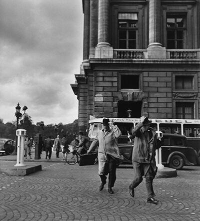 Robert Doisneau, 'Coupe de Vent Rue Royale', 1950