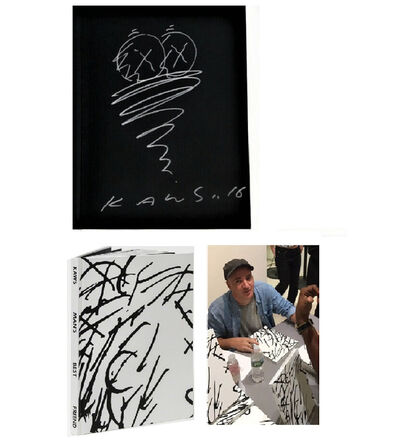 """KAWS, '""""TWISTER- Man's Best Friend"""", Drawing/Signed/Dated, Exhibition Catalogue', 2016"""