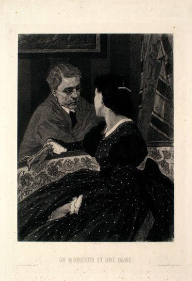 Félicien Rops, 'Un Monsieur et Une Dame ', 1843-1898