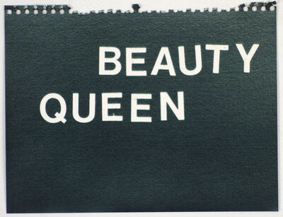 Betty Tompkins, 'Beauty Queen (black)'