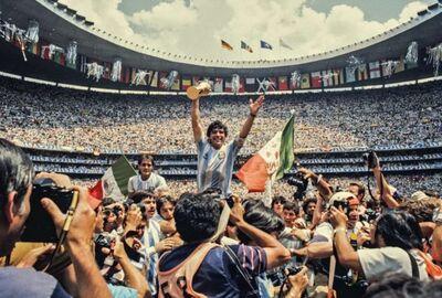 David Yarrow, 'Maradona (Colour)', 2019