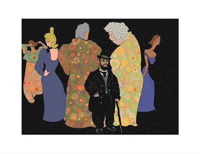 Milton Glaser, 'Lautrec and His Ladies', 2016