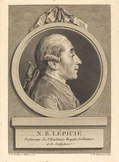 Jean Francois Rousseau after Charles-Nicolas Cochin II, 'N.B. Lepicie', ca. 1776