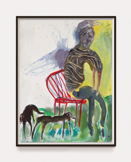 Andrew Litten, 'Seated Man with Animals Study 1', 2020