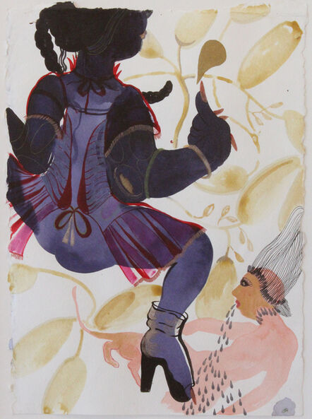 Rina Banerjee, 'Her jama would jingle as she stamped on her earth and willingly remained single', 2011
