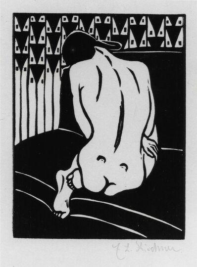 Ernst Ludwig Kirchner, 'Kauernder Akt, vom Ruecken gesehen (Crouching Nude Seen from Behind).', 1905