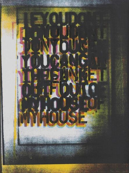 Christopher Wool, 'My House I', 2000