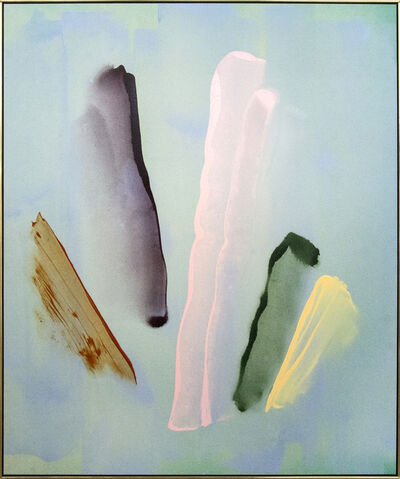 Milly Ristvedt, 'Rocker's Rest - large, blue, pink, green, gestural abstract, acrylic on canvas', 1982