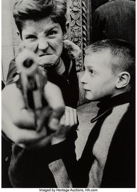 William Klein, 'Gun 1, New York', 1955-printeed later
