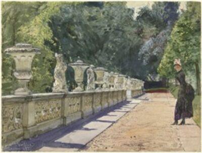Franz Skarbina, 'A Promenade in the Park at Sanssouci', 1885