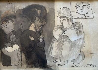 Jose Luis Cuevas, 'Autoretrato en Tangier', ca. 1980