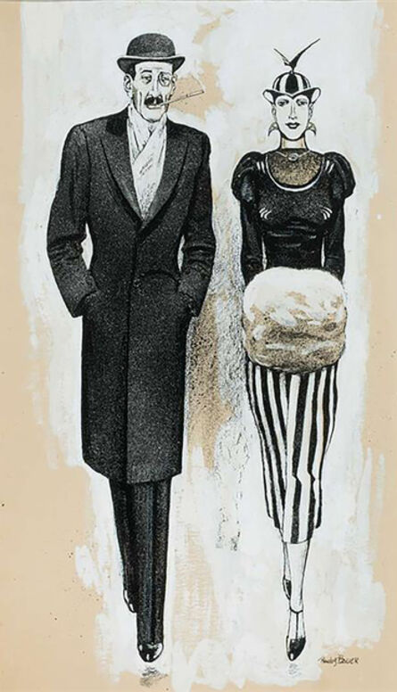 Rudolf Bauer, 'Fashion Couple'