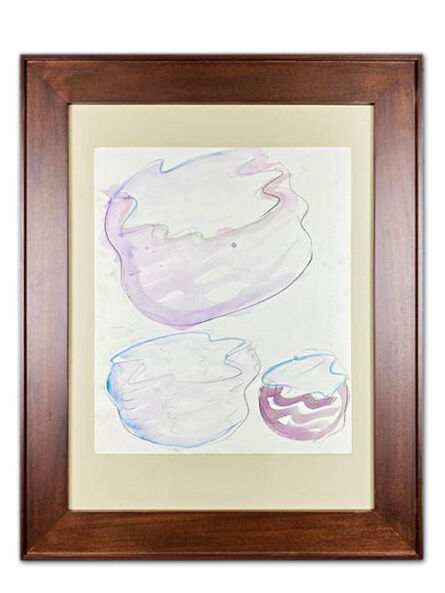 Dale Chihuly, 'Dale Chihuly Taos Baskets Pencil and Watercolor Drawing Contemporary Art Painting', 1999