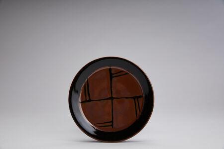Yoshinori Hagiwara, 'Small dinnerware plate, kaki glaze', 2020