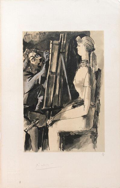 Pablo Picasso, '(Artist and Model.) Untitled from Suite de 15 dessins de Picasso. ', 1954