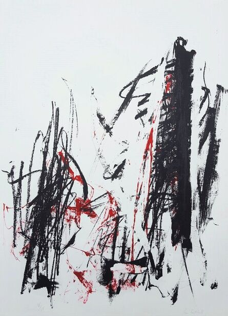 Joan Mitchell, 'Arbres (Black and Red)', 1991-1992