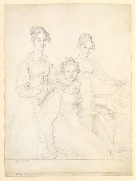 Jean-Auguste-Dominique Ingres, 'The Kaunitz Sisters (Leopoldine, Caroline, and Ferdinandine)', 1818