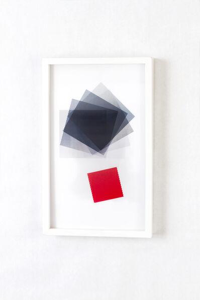 Babak Golkar, 'Black Squared Red Square', 2018
