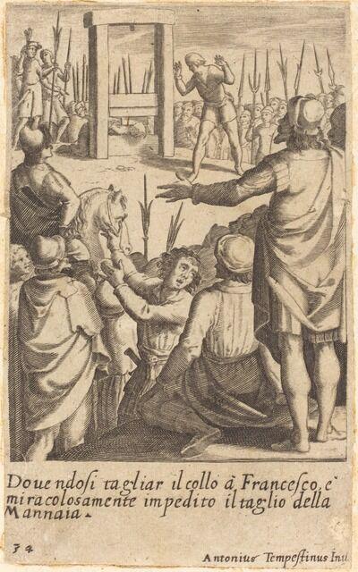 Jacques Callot after Antonio Tempesta, 'Francesco', 1619