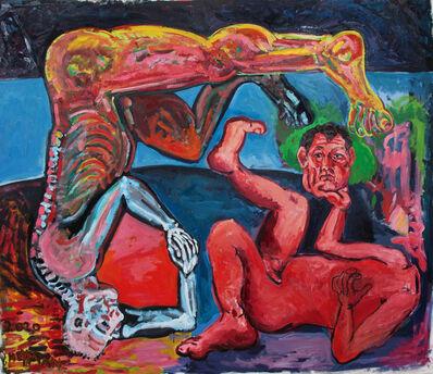 Daniel Heyman, 'Artist: Head in Hand', 2020