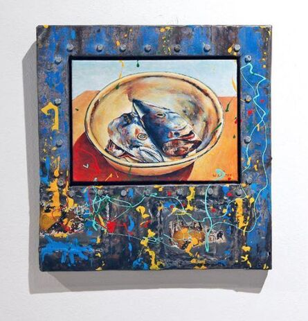 Willie Bester, 'Fish in Plate '