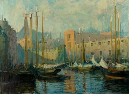 Arthur Clifton Goodwin, 'Near T-Wharf, Boston, Massachusetts', 1909