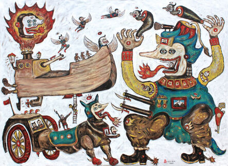 Heri Dono, 'The Journey of the ship's Odyssey', 2018