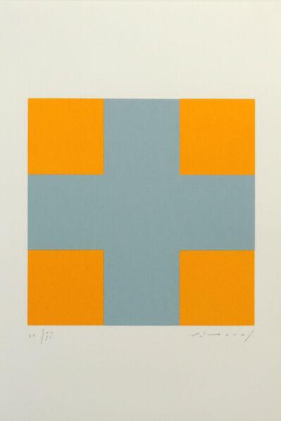 Aurelie Nemours, 'Une croix pour quatre carrés ', 1993