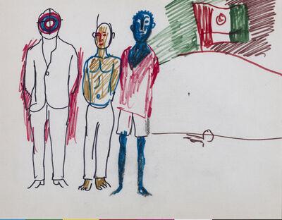 "Antonio Berni, 'Sin título (Tres detenidos). De la serie ""México 68"".', ca. 1968"