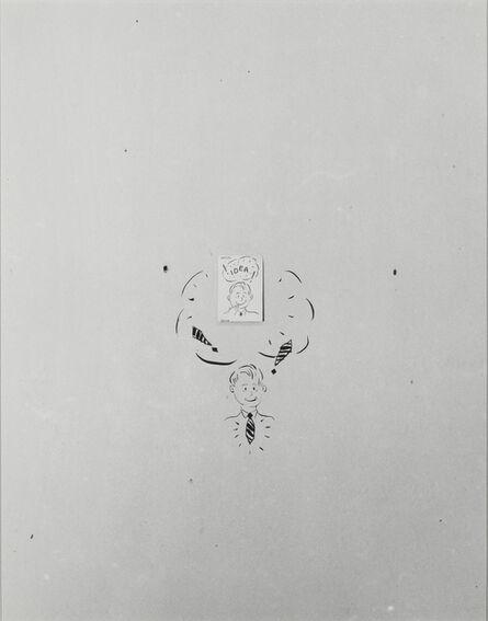 William Wegman, 'Cartoon Idea Tie', 1977