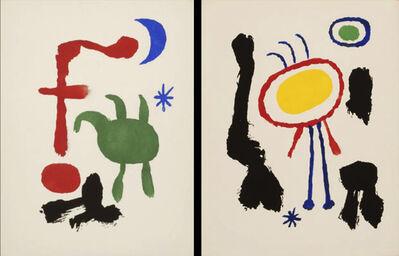 Joan Miró, 'Femme et Oiseaux dans La Nuit & Femme et Oiseaux devant La Lune', 1947