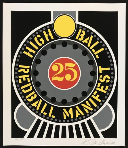 Robert Indiana, 'Highball on Redball Manifest', 1998