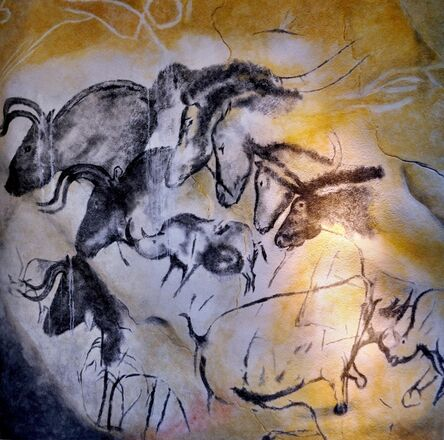 'Wall Painting with Horses, Rhinoceroses, and Aurochs', 30000 BCE -28000 BCE