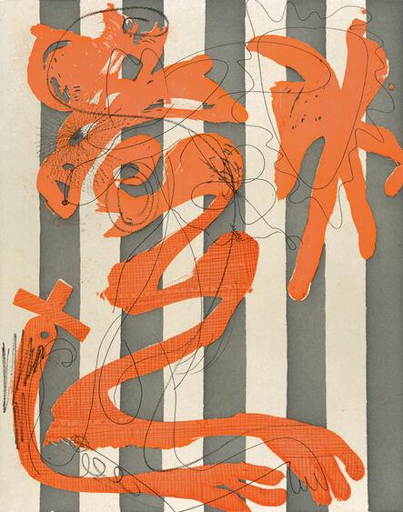 Charline von Heyl, 'Dust on a White Shirt (Stripes)', 2014