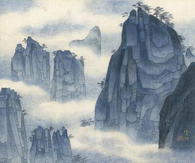 Kuo Hsueh-Hu 郭雪湖, 'The Singular Peaks of Mt. Huang', 1997