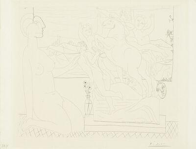Pablo Picasso, 'Marie-Thérèse agenouillée contemplant un groupe sculpté, pl. 66, from La Suite Vollard (Bloch 175; Baer 328)', 1933