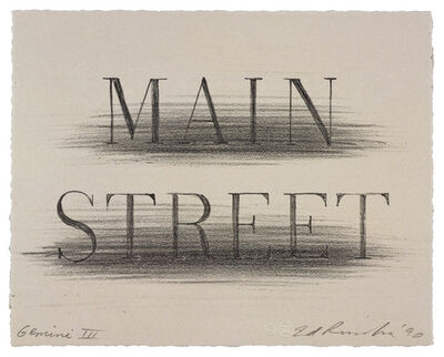 Ed Ruscha, 'Main Street', 1991