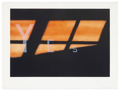 Ed Ruscha, 'Yes', 1984