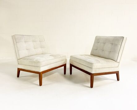 Florence Knoll, 'Lounge Chairs in Brazilian Cowhide, pair', mid 20th century