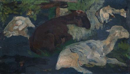 Giovanni Marchini, 'Study of Sheep', 1908